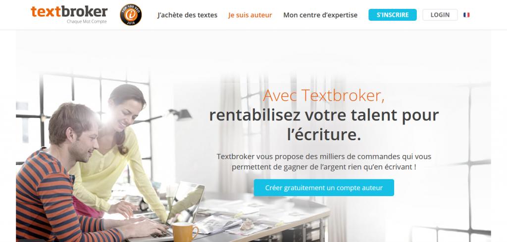 plateforme de rédaction web textbroker