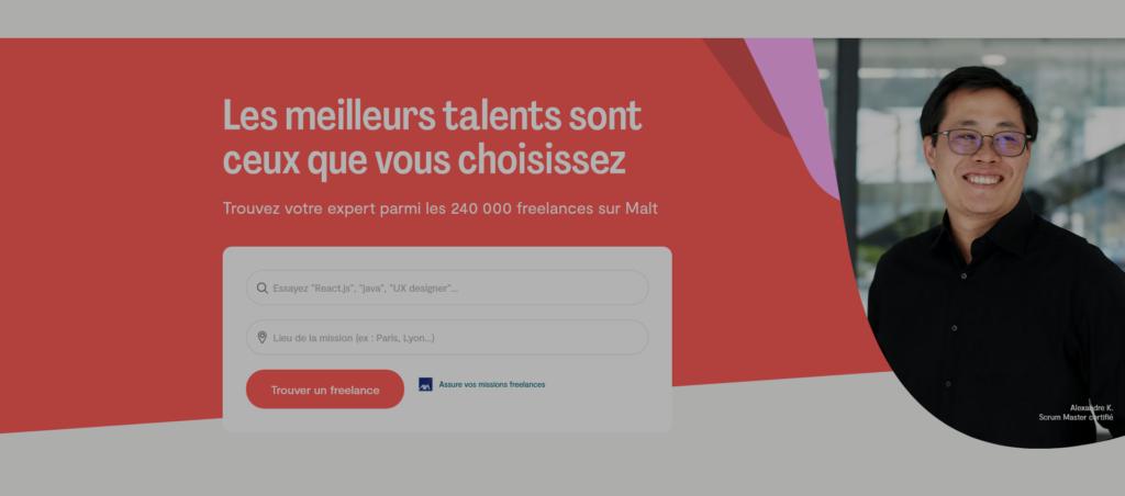 Malt plateforme freelance pour trouver des missions de rédaction web