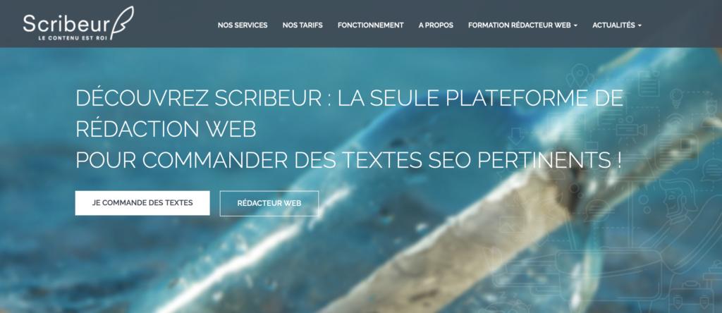 Scriber plateforme de rédaction web pour trouver des clients
