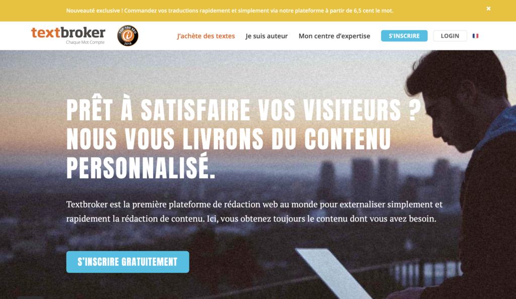 Textbroker plateforme de rédaction web pour trouver des clients
